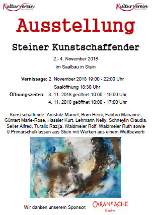 Kunstausstellung in Stein/AG